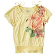 Mudd Floral Cold-Shoulder Tee - Girls 7-16