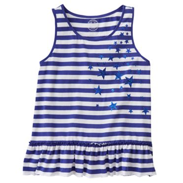 SO Striped Star Tank - Girls 7-16