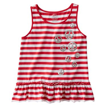 SO Striped Peace Sign Tank - Girls 7-16