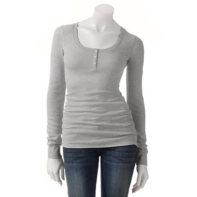 SO Ribbed Long Sleeve Henley - Juniors