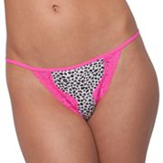 Candie's Animal Print V-String Thong