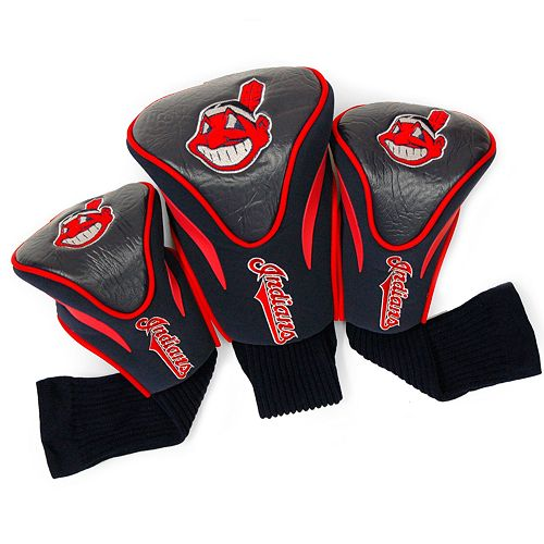 Team Golf Cleveland Indians 3-pc. Contour Head Cover Set