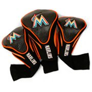 Team Golf Miami Marlins 3 pc Contour Head Cover Set