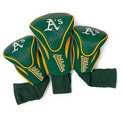 Team Golf Oakland Athletics 3 pc Contour Head Cover Set