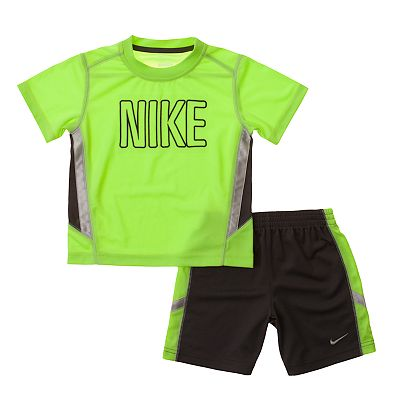 Nike Side-Stripe Tee and Shorts Set - Baby
