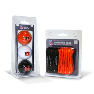 Team Golf Cincinnati Bengals Ball and Tee Set