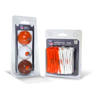 Team Golf Cleveland Browns Ball and Tee Set