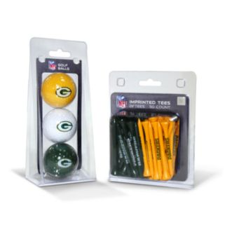 Team Golf Green Bay Packers Ball and Tee Set