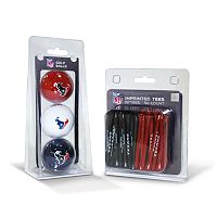 Team Golf Houston Texans Ball & Tee Set