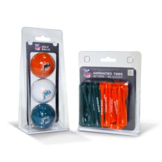 Team Golf Miami Dolphins Ball and Tee Set
