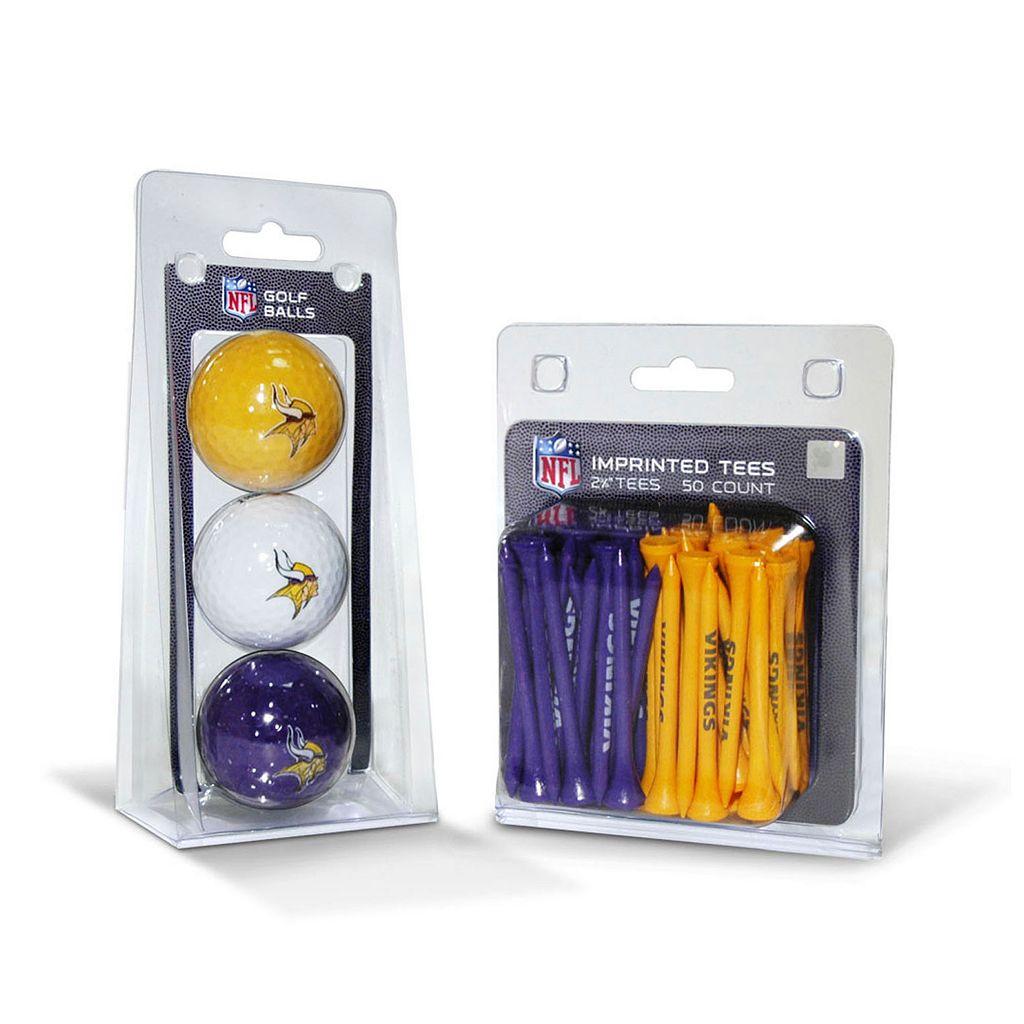 Team Golf Minnesota Vikings Ball & Tee Set