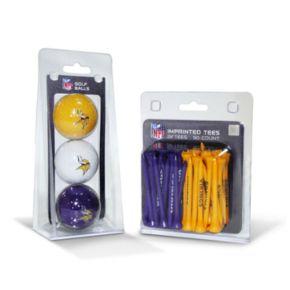 Team Golf Minnesota Vikings Ball and Tee Set