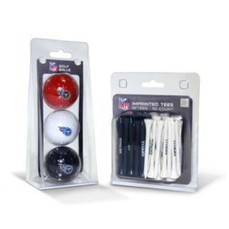 Team Golf Tennessee Titans Ball and Tee Set