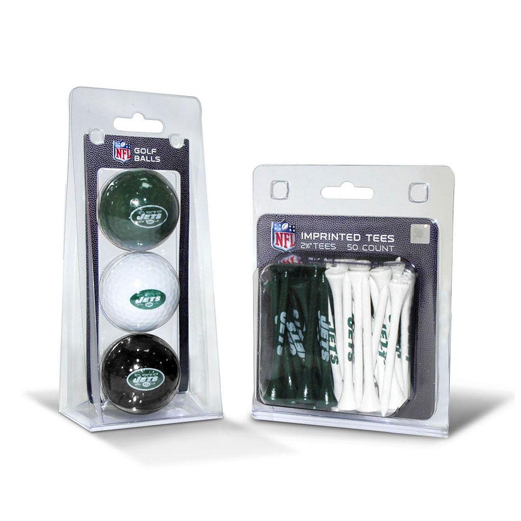 Team Golf New York Jets Ball & Tee Set