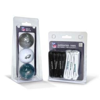 Team Golf Philadelphia Eagles Ball and Tee Set