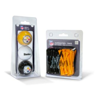 Team Golf Pittsburgh Steelers Ball and Tee Set