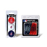 Team Golf Cleveland Indians Ball & Tee Set