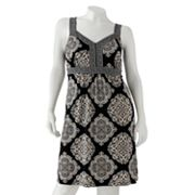 Apt. 9 Medallion Embellished Empire Dress - Women's Plus