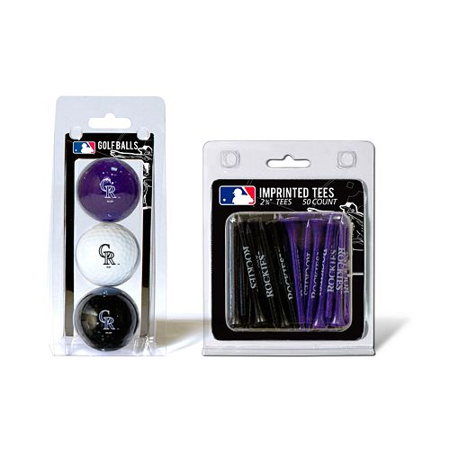 Team Golf Colorado Rockies Ball & Tee Set