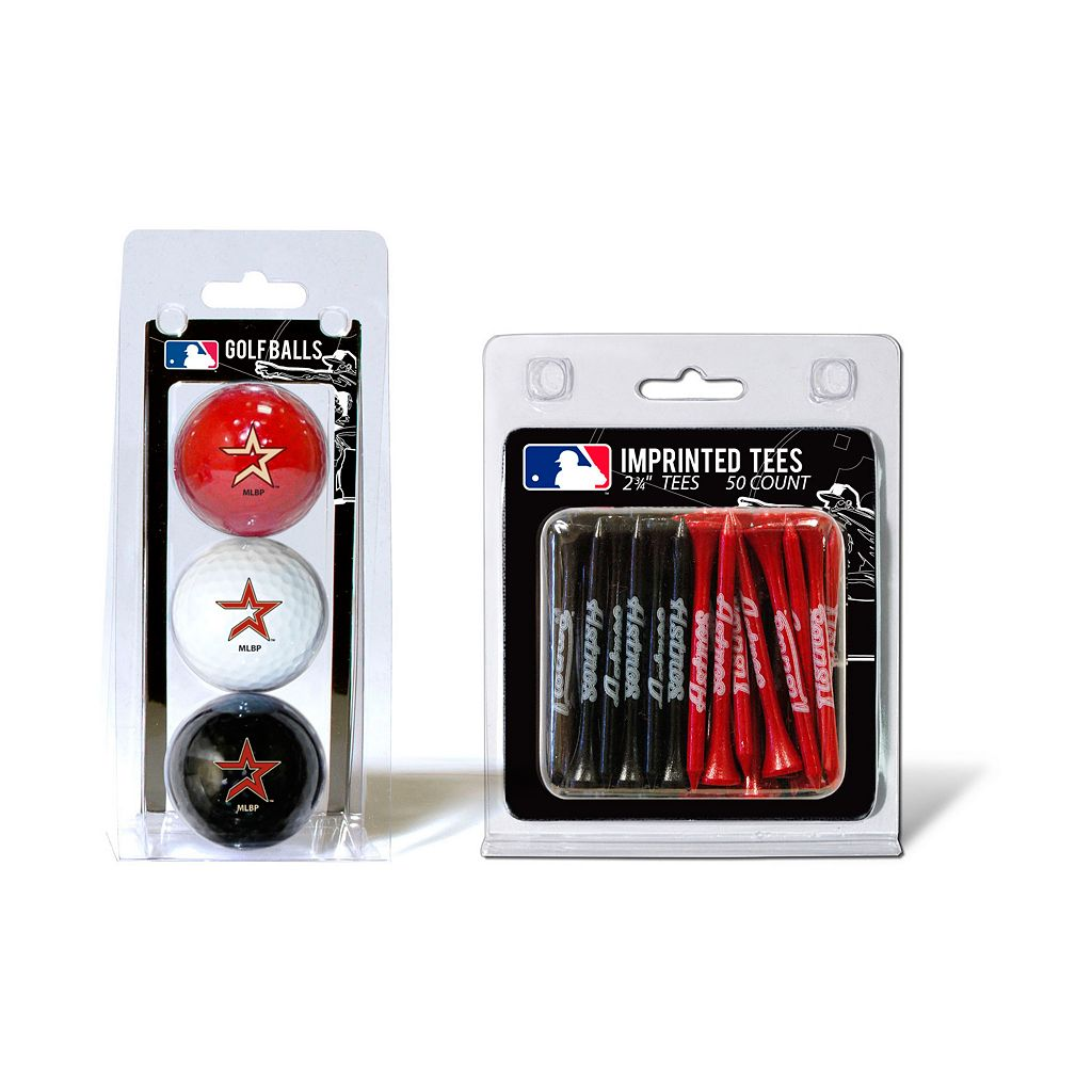 Team Golf Houston Astros Ball & Tee Set