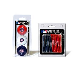 Team Golf Washington Nationals Ball & Tee Set