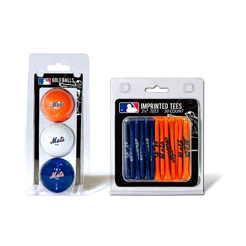Team Golf New York Mets Ball & Tee Set