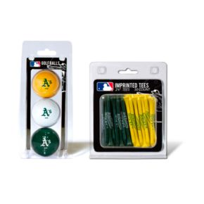 Team Golf Oakland Athletics Ball and Tee Set