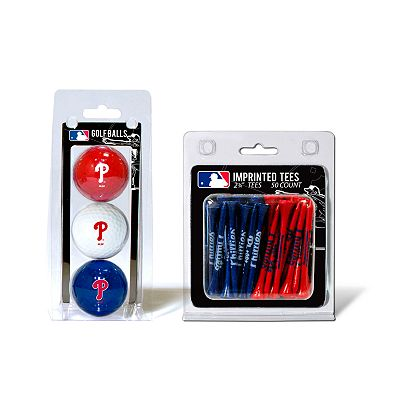 Team Golf Philadelphia Phillies Ball and Tee Set