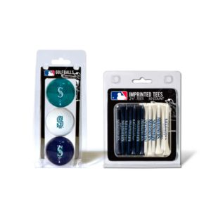 Team Golf Seattle Mariners Ball and Tee Set