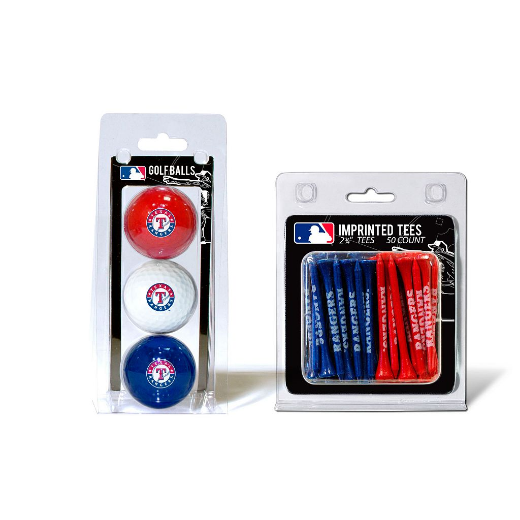 Team Golf Texas Rangers Ball & Tee Set