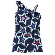 Jumping Beans Tie-Dye Star Asymmetrical Romper - Toddler