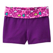 Jumping Beans Heart Yoga Shorts - Toddler