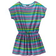 Chaps Striped Drawstring Dress - Girls 4-6x
