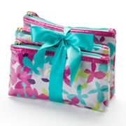ELLE 3-pc. Flora Fetty Cosmetic Bag Set