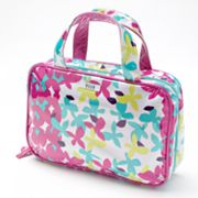 ELLE Flora Fetty Patent Weekender Cosmetic Bag
