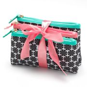 ELLE 3-pc. Floral Girl Cosmetic Bag Set