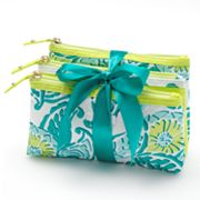 ELLE 3-pc. Grecian Summer Cosmetic Bag Set