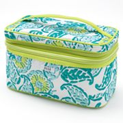 ELLE Double-Zip Grecian Summer Cosmetic Case