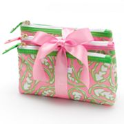ELLE 3-pc. Paisley Power Cosmetic Bag Set