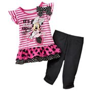 Disney Mickey Mouse and Friends Minnie Mouse Tunic Top and Leggings Set - Baby