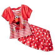 Sesame Street Mock-Layer Elmo Top and Tiered Scooter Set - Baby