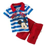 Disney Mickey Mouse Polo and Cargo Shorts Set - Baby