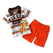 Disney Winnie the Pooh and Friends Tigger Polo and Cargo Shorts Set - Baby