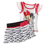 Disney Mickey Mouse and Friends Minnie Mouse Miss Diva Tee and Scooter Set - Baby