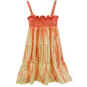 Eyelet Tie-Dye Convertible Dress and Skirt - Girls 4-6x