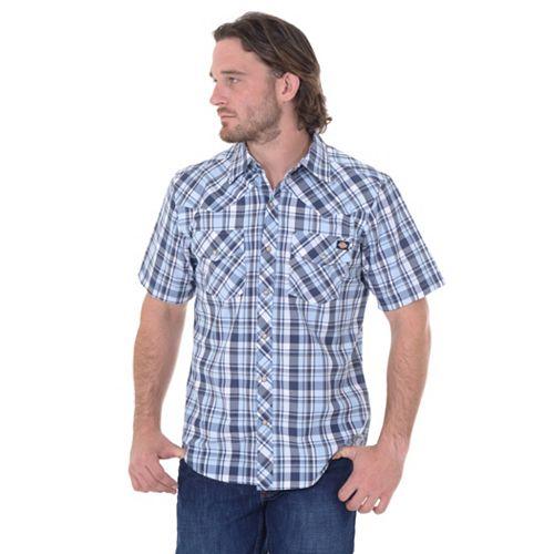 Dickies Plaid Western Button-Down Shirt – Men
