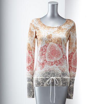 Simply Vera Vera Wang Floral Pointelle Sweater