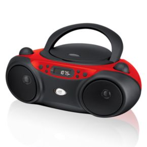 GPX CD Red Boombox Radio