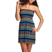SO Striped Smocked Cover-Up
