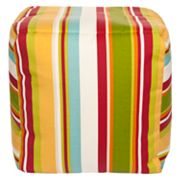 Artisan Weaver Coweta Striped Indoor Outdoor Pouf